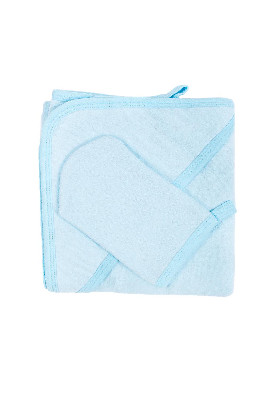 Комплект для купанияДля ванной<br>Махровый комплект для купания новорожденного.  Комплект состоит из: полотенце уголок 1,0*1,0 рукавичка  В изделии использованы цвета: голубой<br><br>По сезону: Всесезон<br>Размер : UNI<br>Материал: Махровое полотно<br>Количество в наличии: 3