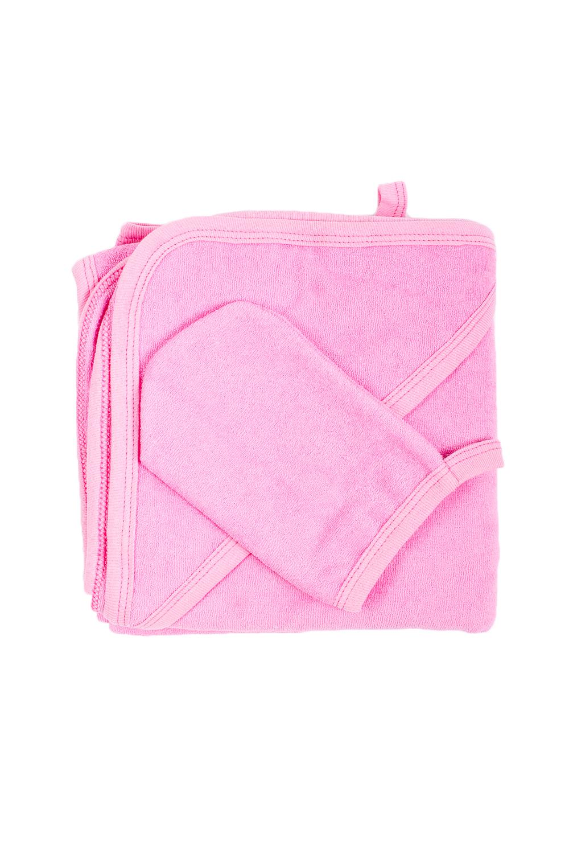 Комплект для купанияДля ванной<br>Махровый комплект для купания новорожденного.  Комплект состоит из: полотенце уголок 1,0*1,0 рукавичка  В изделии использованы цвета: розовый<br><br>По сезону: Всесезон<br>Размер : UNI<br>Материал: Махровое полотно<br>Количество в наличии: 3