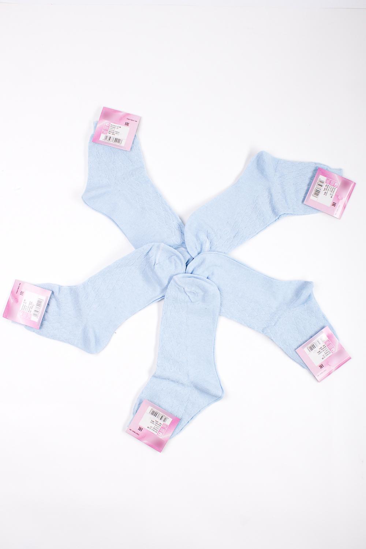 НоскиНоски<br>Хлопковые носки из мягкого трикотажа. В наборе 5 пар.  В изделии использованы цвета: голубой  Цена на сайте указана за 1 упаковку.<br><br>По материалу: Трикотаж,Хлопок<br>По рисунку: Однотонные<br>По стилю: Повседневный стиль<br>По сезону: Осень,Весна<br>Размер : 25<br>Материал: Трикотаж<br>Количество в наличии: 1