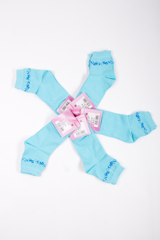 НоскиНоски<br>Хлопковые носки из мягкого трикотажа. В наборе 5 пар.  В изделии использованы цвета: голубой  Цена на сайте указана за 1 упаковку.<br><br>По материалу: Трикотаж,Хлопок<br>По рисунку: Однотонные<br>По стилю: Повседневный стиль<br>По сезону: Осень,Весна<br>Размер : 23-25<br>Материал: Трикотаж<br>Количество в наличии: 2