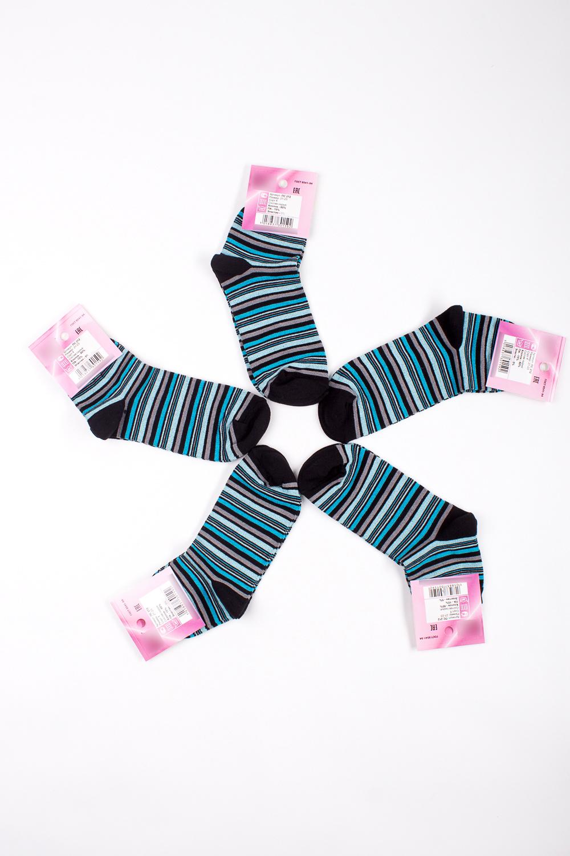 НоскиНоски<br>Хлопковые носки из мягкого трикотажа. В наборе 5 пар.  В изделии использованы цвета: черный, голубой и др.  Цена на сайте указана за 1 упаковку.<br><br>По материалу: Трикотаж,Хлопок<br>По рисунку: В полоску,С принтом,Цветные<br>По стилю: Повседневный стиль<br>По сезону: Осень,Весна<br>Размер : 21-23<br>Материал: Трикотаж<br>Количество в наличии: 1