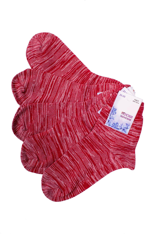 НоскиНоски<br>Универсальные носки из мягкого трикотажа. Носки отличаются хорошим качеством, прочностью, надежностью и удобством в пользовании. Оптимальный состав обеспечит комфорт и здоровье Ваших ног.  В наборе 5 пар.  В изделии использованы цвета: красный меланж  Цена на сайте указана за 1 упаковку.<br><br>По длине: Мини<br>По материалу: Трикотаж,Хлопок<br>По рисунку: Однотонные<br>По сезону: Весна,Зима,Лето,Осень,Всесезон<br>По стилю: Повседневный стиль<br>Размер : 23-25<br>Материал: Трикотаж<br>Количество в наличии: 2