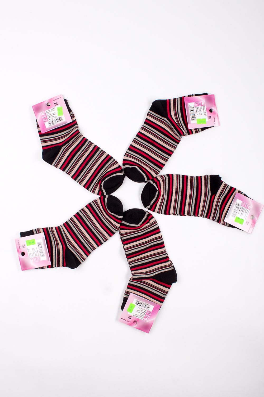 НоскиНоски<br>Хлопковые носки из мягкого трикотажа. В наборе 5 пар.  В изделии использованы цвета: черный, красный и др.  Цена на сайте указана за 1 упаковку.<br><br>По материалу: Трикотаж,Хлопок<br>По рисунку: В полоску,С принтом,Цветные<br>По стилю: Повседневный стиль<br>По сезону: Осень,Весна<br>Размер : 21-23<br>Материал: Трикотаж<br>Количество в наличии: 1