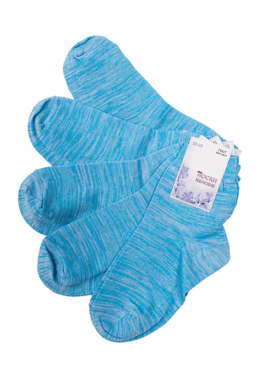 НоскиНоски<br>Универсальные носки из мягкого трикотажа. Носки отличаются хорошим качеством, прочностью, надежностью и удобством в пользовании. Оптимальный состав обеспечит комфорт и здоровье Ваших ног.  В наборе 5 пар.  В изделии использованы цвета: бирюзовый меланж  Цена на сайте указана за 1 упаковку.<br><br>По длине: Мини<br>По материалу: Трикотаж,Хлопок<br>По рисунку: Однотонные<br>По сезону: Весна,Зима,Лето,Осень,Всесезон<br>По стилю: Повседневный стиль<br>Размер : 23-25<br>Материал: Трикотаж<br>Количество в наличии: 2