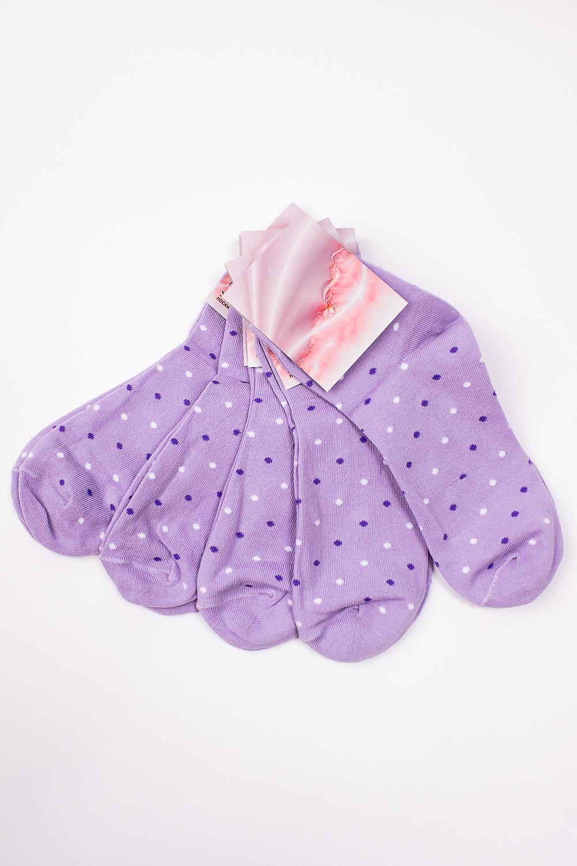 НоскиНоски<br>Цветные трикотажные носки. В наборе 5 пар.   В изделии использованы цвета: сиреневый и др.  Цена на сайте указана за 1 упаковку.<br><br>По материалу: Трикотаж,Хлопок<br>По рисунку: В горошек,С принтом,Цветные<br>По сезону: Весна,Зима,Лето,Осень,Всесезон<br>По стилю: Повседневный стиль<br>Размер : 23-25<br>Материал: Трикотаж<br>Количество в наличии: 1