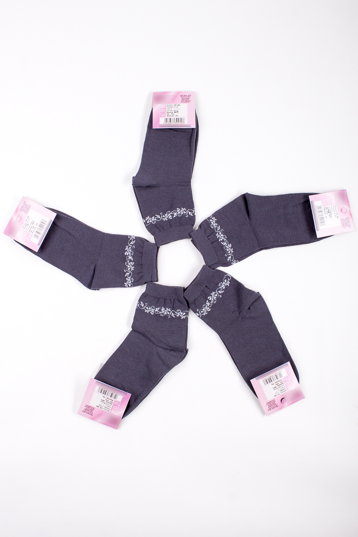 НоскиНоски<br>Хлопковые носки из мягкого трикотажа. В наборе 5 пар.  В изделии использованы цвета: серый, белый  Цена на сайте указана за 1 упаковку.<br><br>По материалу: Трикотаж,Хлопок<br>По рисунку: С принтом,Цветные<br>По стилю: Повседневный стиль<br>По сезону: Осень,Весна<br>Размер : 21-23<br>Материал: Трикотаж<br>Количество в наличии: 2