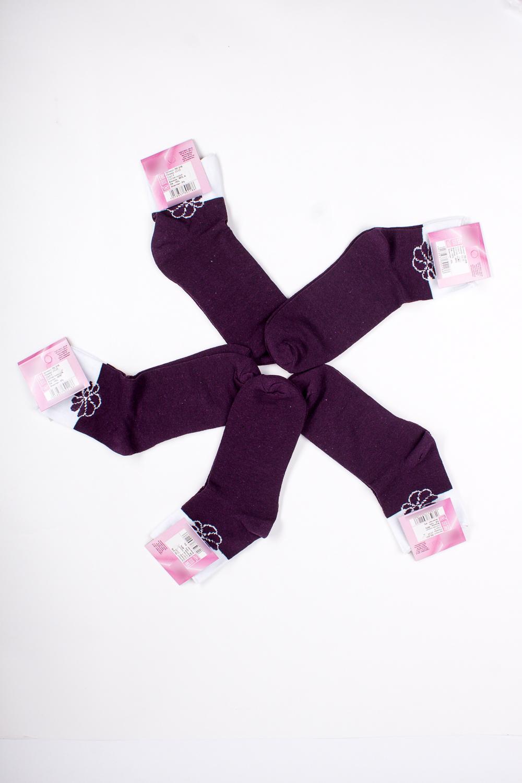 НоскиНоски<br>Хлопковые носки из мягкого трикотажа. В наборе 5 пар.  В изделии использованы цвета: фиолетовый, белый<br><br>По материалу: Трикотаж,Хлопок<br>По рисунку: С принтом,Цветные<br>По стилю: Повседневный стиль<br>По сезону: Осень,Весна<br>Размер : 23-25<br>Материал: Трикотаж<br>Количество в наличии: 3