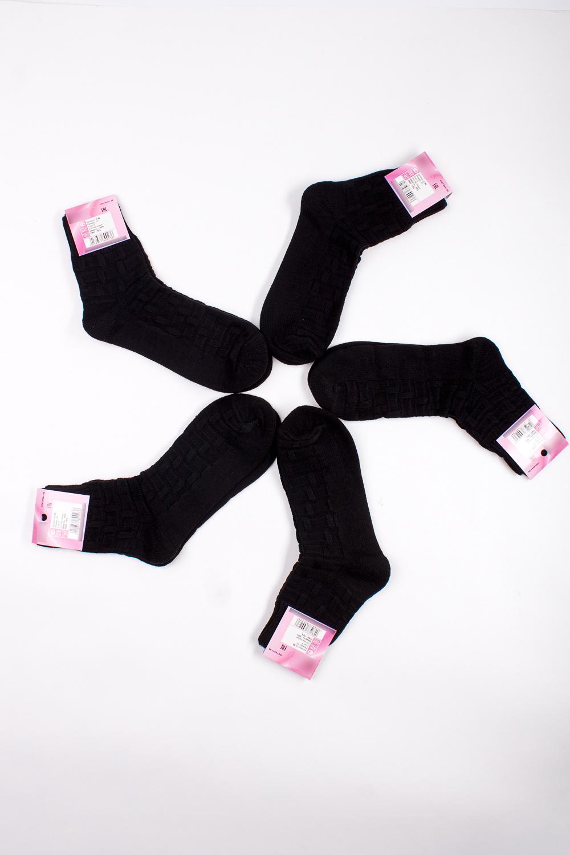 НоскиНоски<br>Однотонные носки из мягкого трикотажа. В наборе 5 пар.  В изделии использованы цвета: черный  Цена на сайте указана за 1 упаковку.<br><br>По материалу: Трикотаж<br>По рисунку: Однотонные<br>По стилю: Повседневный стиль<br>По сезону: Осень,Весна<br>Размер : 25<br>Материал: Вязаное полотно<br>Количество в наличии: 2