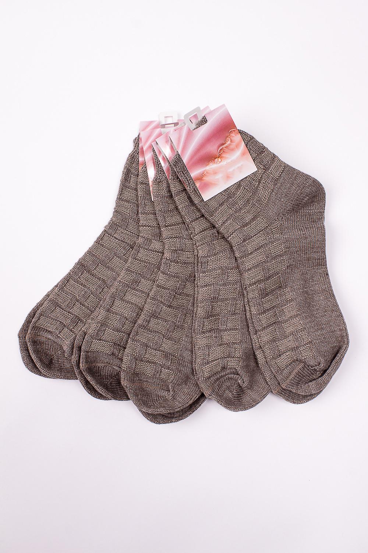 НоскиНоски<br>Однотонные трикотажные носки. В наборе 5 пар.   В изделии использованы цвета: светло-коричневый  Цена на сайте указана за 1 упаковку.<br><br>По материалу: Трикотаж,Шерсть<br>По рисунку: Однотонные<br>По сезону: Весна,Зима,Лето,Осень,Всесезон<br>По стилю: Повседневный стиль<br>Размер : 25<br>Материал: Трикотаж<br>Количество в наличии: 2