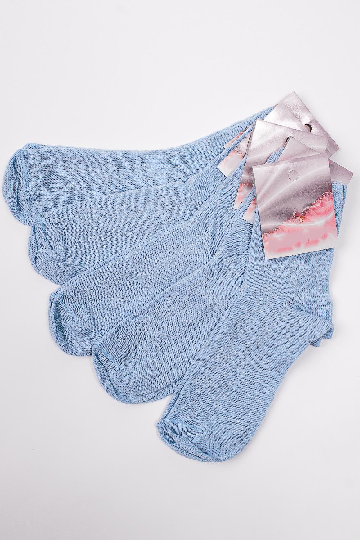 НоскиНоски<br>Однотонные трикотажные носки. В наборе 5 пар.   В изделии использованы цвета: голубой  Цена на сайте указана за 1 упаковку.<br><br>По материалу: Трикотаж,Хлопок<br>По рисунку: Однотонные<br>По сезону: Весна,Зима,Лето,Осень,Всесезон<br>По стилю: Повседневный стиль<br>Размер : 25<br>Материал: Трикотаж<br>Количество в наличии: 1