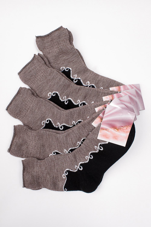 НоскиНоски<br>Махровые женские носки Упаковка из 5 пар.  В изделии использованы цвета: черный, коричневый, белый.  Цена на сайте указана за 1 упаковку.<br><br>По материалу: Махровые<br>По рисунку: С принтом,Цветные<br>По сезону: Зима,Осень,Весна<br>По стилю: Повседневный стиль<br>Размер : 23<br>Материал: Махровое полотно<br>Количество в наличии: 1