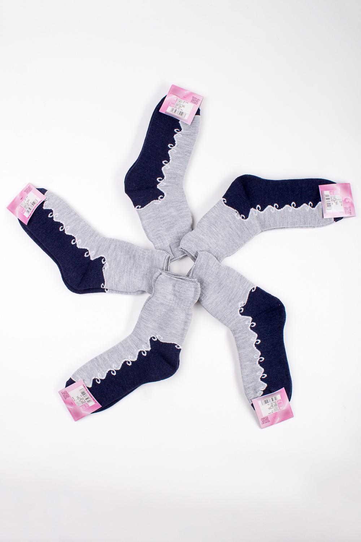 НоскиНоски<br>Цветные носки из мягкого трикотажа. В наборе 5 пар.  Цена на сайте указана за 1 упаковку.  В изделии использованы цвета: серый, синий  Цена на сайте указана за 1 упаковку.<br><br>По материалу: Трикотаж<br>По рисунку: С принтом,Цветные<br>По стилю: Повседневный стиль<br>По сезону: Осень,Весна<br>Размер : 25<br>Материал: Трикотаж<br>Количество в наличии: 1