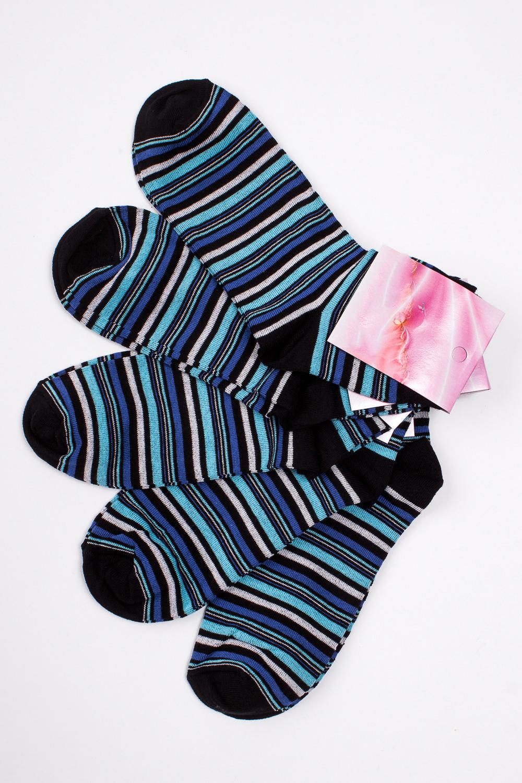 НоскиНоски<br>Хлопковые носки из мягкого трикотажа. В наборе 5 пар.  В изделии использованы цвета: черный, синий, голубой и др.  Цена на сайте указана за 1 упаковку.<br><br>По сезону: Осень,Весна,Зима,Лето,Всесезон<br>По длине: Миди<br>По материалу: Трикотаж,Хлопок<br>По рисунку: В полоску,С принтом,Цветные<br>По стилю: Повседневный стиль<br>Размер : 23-25<br>Материал: Трикотаж<br>Количество в наличии: 1