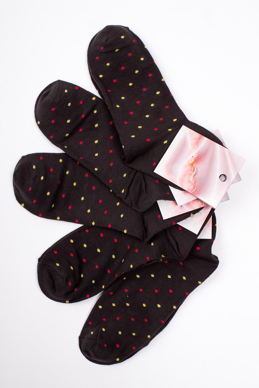 НоскиНоски<br>Хлопковые носки из мягкого трикотажа. В наборе 5 пар.  В изделии использованы цвета: темно-коричневый и др.  Цена на сайте указана за 1 упаковку.<br><br>По длине: Миди<br>По материалу: Трикотаж,Хлопок<br>По рисунку: В горошек,С принтом,Цветные<br>По сезону: Весна,Зима,Лето,Осень,Всесезон<br>По стилю: Повседневный стиль<br>Размер : 23-25<br>Материал: Трикотаж<br>Количество в наличии: 2