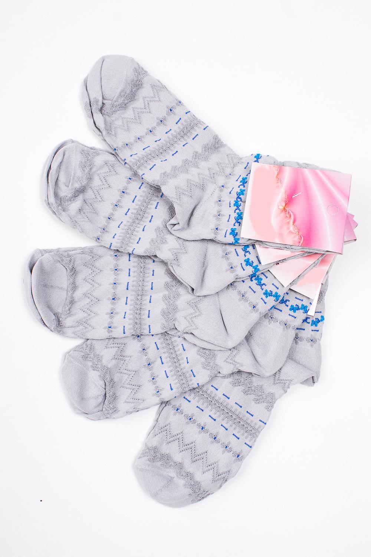 НоскиНоски<br>Хлопковые носки из мягкого трикотажа. В наборе 5 пар.  В изделии использованы цвета: серый и др.  Цена на сайте указана за 1 упаковку.<br><br>По длине: Миди<br>По материалу: Трикотаж,Хлопок<br>По рисунку: В полоску,С принтом,Цветные<br>По сезону: Весна,Зима,Лето,Осень,Всесезон<br>По стилю: Повседневный стиль<br>Размер : 23-25<br>Материал: Трикотаж<br>Количество в наличии: 2