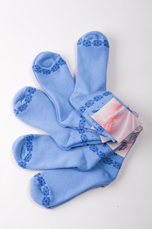 НоскиНоски<br>Махровые женские носки Упаковка из 5 пар.  В изделии использованы цвета: голубой  Цена на сайте указана за 1 упаковку.<br><br>По материалу: Махровые<br>По рисунку: Однотонные<br>По сезону: Зима,Осень,Весна<br>По стилю: Повседневный стиль<br>Размер : 23-25<br>Материал: Махровое полотно<br>Количество в наличии: 1