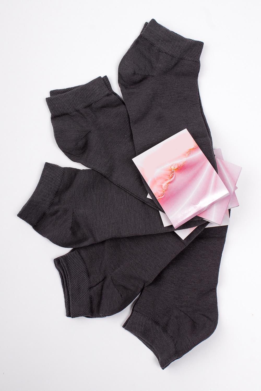 НоскиНоски<br>Хлопковые носки из мягкого трикотажа. В наборе 5 пар.  В изделии использованы цвета: темно-серый  Цена на сайте указана за 1 упаковку.<br><br>По длине: Миди<br>По материалу: Трикотаж,Хлопок<br>По рисунку: Однотонные<br>По сезону: Весна,Зима,Лето,Осень,Всесезон<br>По стилю: Повседневный стиль<br>Размер : 21-23,23-25<br>Материал: Трикотаж<br>Количество в наличии: 3