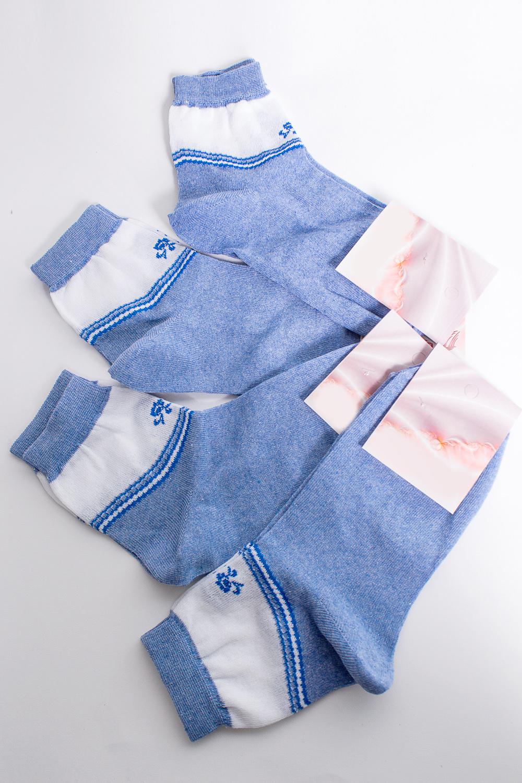 НоскиНоски<br>Хлопковые носки из мягкого трикотажа. В наборе 5 пар.  В изделии использованы цвета: синий и др.  Цена на сайте указана за 1 упаковку.<br><br>По материалу: Трикотаж,Хлопок<br>По рисунку: С принтом,Цветные<br>По стилю: Повседневный стиль<br>По сезону: Осень,Весна<br>Размер : 25<br>Материал: Трикотаж<br>Количество в наличии: 2