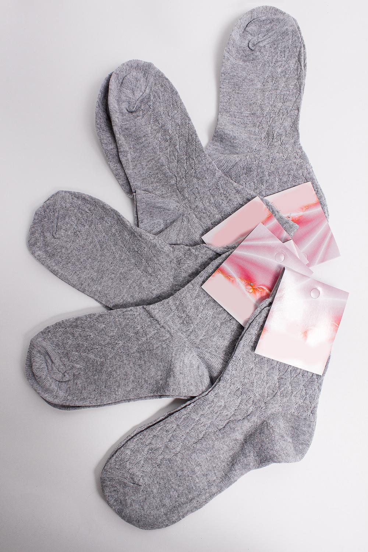 НоскиНоски<br>Хлопковые носки из мягкого трикотажа. В наборе 5 пар.  В изделии использованы цвета: серый  Цена на сайте указана за 1 упаковку.<br><br>По материалу: Трикотаж,Хлопок<br>По рисунку: Однотонные<br>По стилю: Повседневный стиль<br>По сезону: Осень,Весна<br>Размер : 23,25<br>Материал: Трикотаж<br>Количество в наличии: 3