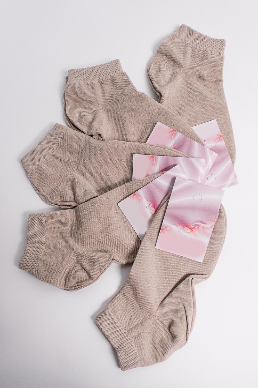 НоскиНоски<br>Хлопковые носки из мягкого трикотажа. В наборе 5 пар.  В изделии использованы цвета: бежевый  Цена на сайте указана за 1 упаковку.<br><br>По материалу: Трикотаж,Хлопок<br>По рисунку: Однотонные<br>По сезону: Весна,Зима,Лето,Осень,Всесезон<br>По стилю: Повседневный стиль<br>Размер : 21-23<br>Материал: Трикотаж<br>Количество в наличии: 2