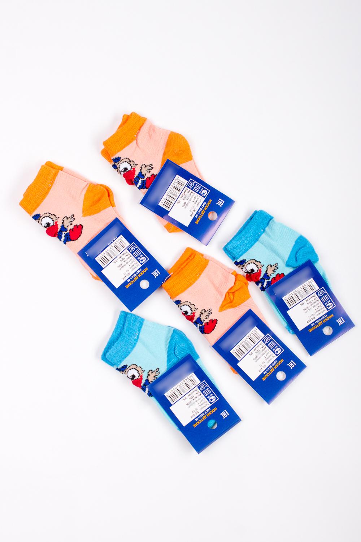 НоскиЧулочно-носочные изделия<br>Трикотажные носочки для ребенка. Упаковка из 5 пар.  В изделии использованы цвета: голубой, оранжевый и др.  Цена на сайте указана за 1 упаковку.<br><br>По материалу: Трикотажные<br>По образу: Жизнь<br>По рисунку: С принтом (печатью),Цветные<br>По сезону: Весна,Зима,Лето,Осень,Всесезон<br>По стилю: Повседневные<br>По элементам: На резинке<br>Размер : 10-12<br>Материал: Трикотаж<br>Количество в наличии: 2