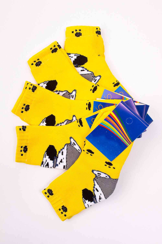 НоскиЧулочно-носочные изделия<br>Махровые носочки для ребенка. Упаковка из 5 пар.  В изделии использованы цвета: желтый и др.  Цена на сайте указана за 1 упаковку.<br><br>По материалу: Махровые<br>По образу: Жизнь<br>По рисунку: Животные мотивы,С принтом (печатью),Цветные<br>По сезону: Зима,Осень,Весна<br>По стилю: Повседневные,Теплые<br>По элементам: На резинке<br>Размер : 16-18<br>Материал: Махровое полотно<br>Количество в наличии: 1