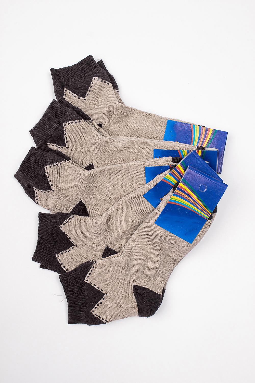 НоскиЧулочно-носочные изделия<br>Махровые носочки для ребенка. Упаковка из 5 пар.  В изделии использованы цвета: коричневый, бежевый  Цена на сайте указана за 1 упаковку.<br><br>По материалу: Махровые<br>По образу: Жизнь<br>По рисунку: С принтом (печатью),Цветные<br>По сезону: Зима,Осень,Весна<br>По стилю: Повседневные,Теплые<br>По элементам: На резинке<br>Размер : 22-24<br>Материал: Махровое полотно<br>Количество в наличии: 1