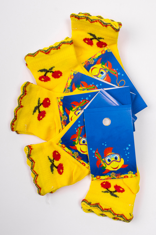 НоскиЧулочно-носочные изделия<br>Махровые носочки для ребенка. Упаковка из 5 пар.  В изделии использованы цвета: желтый и др.  Цена на сайте указана за 1 упаковку.<br><br>По материалу: Махровые<br>По образу: Жизнь<br>По рисунку: С принтом (печатью),Цветные<br>По сезону: Зима,Осень,Весна<br>По стилю: Повседневные,Теплые<br>По элементам: На резинке<br>Размер : 8-10<br>Материал: Махровое полотно<br>Количество в наличии: 2