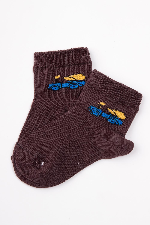 НоскиЧулочно-носочные изделия<br>Цветные хлопковые носочки  Цвет: коричневый<br><br>По материалу: Трикотажные,Хлопковые<br>По образу: Жизнь<br>По рисунку: С принтом (печатью),Цветные<br>По сезону: Весна,Зима,Лето,Осень,Всесезон<br>По стилю: Повседневные<br>Размер : 14<br>Материал: Трикотаж<br>Количество в наличии: 4