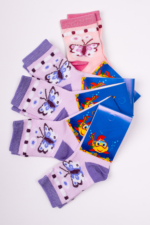 НоскиЧулочно-носочные изделия<br>Махровые носочки для ребенка. Упаковка из 5 пар.  В изделии использованы цвета: лиловый, розовый.  Цена на сайте указана за 1 упаковку.<br><br>По материалу: Махровые<br>По образу: Жизнь<br>По рисунку: С принтом (печатью),Цветные<br>По сезону: Зима,Осень,Весна<br>По стилю: Повседневные,Теплые<br>По элементам: На резинке<br>Размер : 10-12<br>Материал: Махровое полотно<br>Количество в наличии: 1