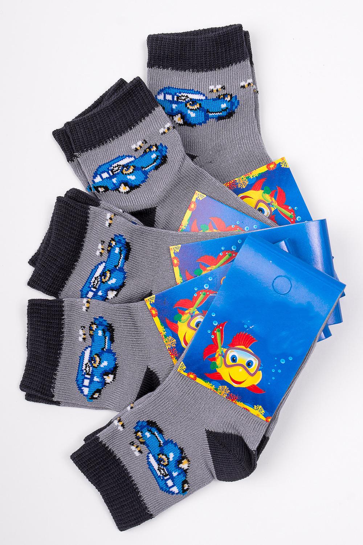 НоскиЧулочно-носочные изделия<br>Трикотажные носочки для ребенка. Упаковка из 5 пар.  В изделии использованы цвета: серый и др.  Цена на сайте указана за 1 упаковку.<br><br>Материал: Трикотажные<br>Образ: Жизнь<br>Рисунок: С принтом (печатью),Цветные<br>Сезон: Весна,Всесезон,Зима,Лето,Осень<br>Стиль: Повседневные<br>Элементы: На резинке<br>Размер : 12-14<br>Материал: Трикотаж<br>Количество в наличии: 1