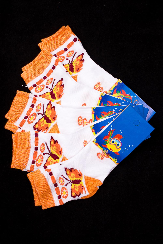 НоскиЧулочно-носочные изделия<br>Трикотажные носочки для ребенка. Упаковка из 5 пар.  В изделии использованы цвета: белый, оранжевый и др.  Цена на сайте указана за 1 упаковку.<br><br>По материалу: Трикотажные<br>По образу: Жизнь<br>По рисунку: С принтом (печатью),Цветные<br>По сезону: Весна,Зима,Лето,Осень,Всесезон<br>По стилю: Повседневные<br>По элементам: На резинке<br>Размер : 14-16<br>Материал: Трикотаж<br>Количество в наличии: 1