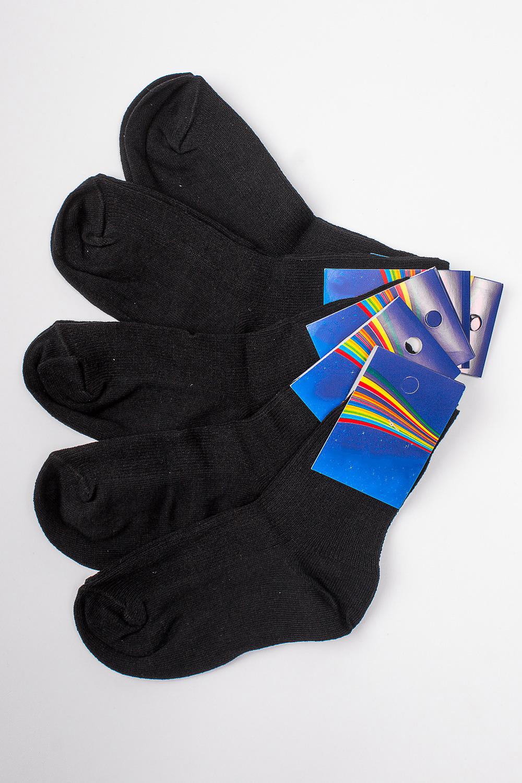 НоскиЧулочно-носочные изделия<br>Трикотажные носочки для ребенка. Упаковка из 5 пар.  В изделии использованы цвета: черный  Цена на сайте указана за 1 упаковку.<br><br>По материалу: Трикотажные<br>По образу: Жизнь<br>По рисунку: Однотонные<br>По сезону: Весна,Зима,Лето,Осень,Всесезон<br>По стилю: Повседневные<br>По элементам: На резинке<br>Размер : 18<br>Материал: Трикотаж<br>Количество в наличии: 2
