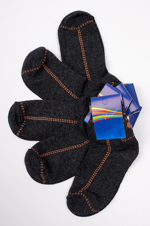 НоскиЧулочно-носочные изделия<br>Трикотажные носочки для ребенка. Упаковка из 5 пар.  В изделии использованы цвета: серый, оранжевый.  Цена на сайте указана за 1 упаковку.<br><br>По материалу: Трикотажные<br>По образу: Жизнь<br>По рисунку: С принтом (печатью),Цветные<br>По сезону: Весна,Зима,Лето,Осень,Всесезон<br>По стилю: Повседневные<br>По элементам: На резинке<br>Размер : 20<br>Материал: Трикотаж<br>Количество в наличии: 2