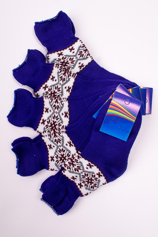 НоскиЧулочно-носочные изделия<br>Махровые носочки для ребенка. Упаковка из 5 пар.  В изделии использованы цвета: синий и др.  Цена на сайте указана за 1 упаковку.<br><br>По материалу: Махровые<br>По образу: Жизнь<br>По рисунку: С принтом (печатью),Цветные<br>По сезону: Зима,Осень,Весна<br>По стилю: Повседневные,Теплые<br>По элементам: На резинке<br>Размер : 18<br>Материал: Махровое полотно<br>Количество в наличии: 1