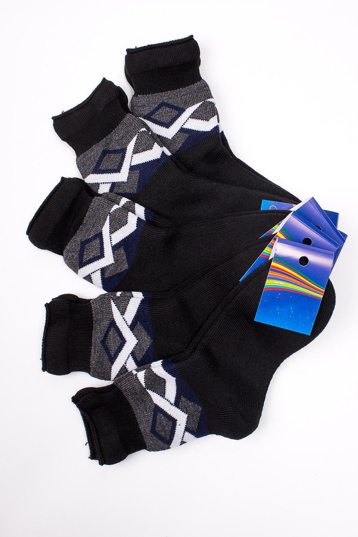 НоскиЧулочно-носочные изделия<br>Махровые носочки для ребенка. Упаковка из 5 пар.  В изделии использованы цвета: черный и др.  Цена на сайте указана за 1 упаковку.<br><br>По материалу: Махровые<br>По образу: Жизнь<br>По рисунку: С принтом (печатью),Цветные<br>По сезону: Зима,Осень,Весна<br>По стилю: Повседневные,Теплые<br>По элементам: На резинке<br>Размер : 20<br>Материал: Махровое полотно<br>Количество в наличии: 1