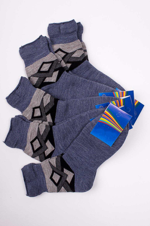 НоскиЧулочно-носочные изделия<br>Махровые носочки для ребенка. Упаковка из 5 пар.  В изделии использованы цвета: синий и др.  Цена на сайте указана за 1 упаковку.<br><br>По материалу: Махровые<br>По образу: Жизнь<br>По рисунку: С принтом (печатью),Цветные<br>По сезону: Зима,Осень,Весна<br>По стилю: Повседневные,Теплые<br>По элементам: На резинке<br>Размер : 22<br>Материал: Махровое полотно<br>Количество в наличии: 1