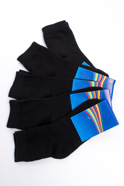 НоскиЧулочно-носочные изделия<br>Хлопковые носки из мягкого трикотажа. В наборе 5 пар.  В изделии использованы цвета: черный  Цена на сайте указана за 1 упаковку.<br><br>По материалу: Трикотажные<br>По образу: Жизнь<br>По рисунку: Однотонные<br>По сезону: Весна,Зима,Лето,Осень,Всесезон<br>По стилю: Повседневные<br>Размер : 16-18,20-22<br>Материал: Трикотаж<br>Количество в наличии: 6