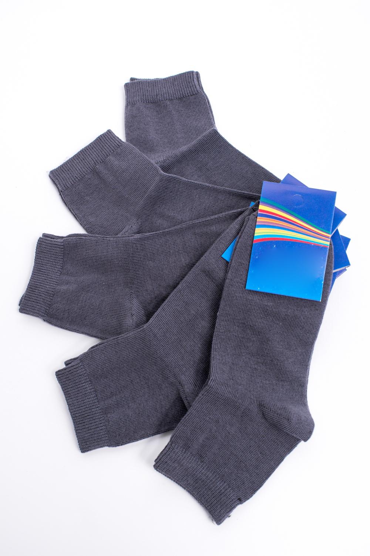 НоскиЧулочно-носочные изделия<br>Хлопковые носки из мягкого трикотажа. В наборе 5 пар.  В изделии использованы цвета: серый  Цена на сайте указана за 1 упаковку.<br><br>По материалу: Трикотажные<br>По образу: Жизнь<br>По рисунку: Однотонные<br>По сезону: Весна,Зима,Лето,Осень,Всесезон<br>По стилю: Повседневные<br>Размер : 20-22<br>Материал: Трикотаж<br>Количество в наличии: 1
