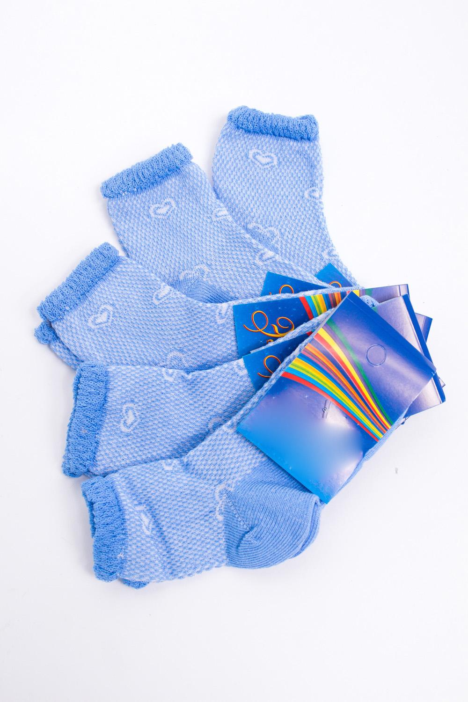 НоскиЧулочно-носочные изделия<br>Цветные носки из мягкого трикотажа. В наборе 5 пар.  В изделии использованы цвета: голубой, белый  Цена на сайте указана за 1 упаковку.<br><br>По длине: Миди<br>По материалу: Трикотажные,Хлопковые<br>По рисунку: С принтом (печатью),Цветные<br>По сезону: Весна,Зима,Лето,Осень,Всесезон<br>По стилю: Повседневные<br>По элементам: С декором<br>Размер : 10<br>Материал: Трикотаж<br>Количество в наличии: 2