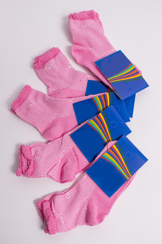 НоскиЧулочно-носочные изделия<br>Цветные носки из мягкого трикотажа. В наборе 5 пар.  В изделии использованы цвета: розовый, белый  Цена на сайте указана за 1 упаковку.<br><br>По материалу: Трикотажные<br>По рисунку: С принтом (печатью),Цветные<br>По сезону: Весна,Зима,Лето,Осень,Всесезон<br>По стилю: Повседневные<br>Размер : 12<br>Материал: Трикотаж<br>Количество в наличии: 2