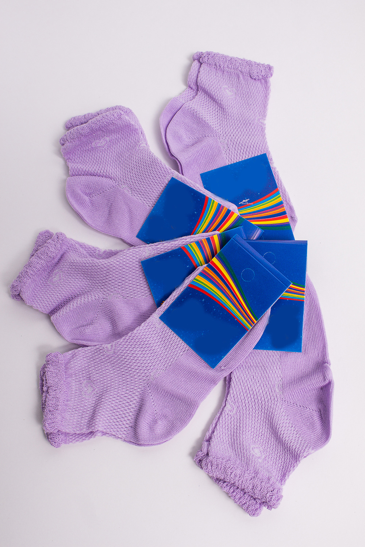 НоскиЧулочно-носочные изделия<br>Однотонные носки из мягкого трикотажа. В наборе 5 пар.  В изделии использованы цвета: сиреневый  Цена на сайте указана за 1 упаковку.<br><br>По материалу: Трикотажные<br>По рисунку: Однотонные<br>По сезону: Весна,Зима,Лето,Осень,Всесезон<br>По стилю: Повседневные<br>Размер : 14<br>Материал: Трикотаж<br>Количество в наличии: 2