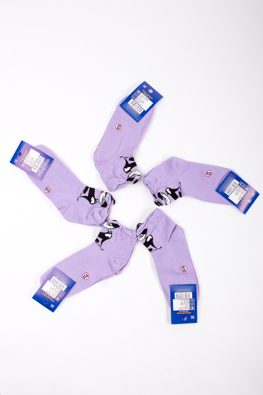 НоскиЧулочно-носочные изделия<br>Трикотажные носочки для ребенка. Упаковка из 5 пар.  В изделии использованы цвета: сиреневый и др.  Цена на сайте указана за 1 упаковку.<br><br>По материалу: Махровые,Трикотажные<br>По образу: Жизнь<br>По рисунку: С принтом (печатью),Цветные<br>По сезону: Весна,Зима,Лето,Осень,Всесезон<br>По стилю: Повседневные<br>По элементам: На резинке<br>Размер : 16-18,20-22<br>Материал: Трикотаж<br>Количество в наличии: 3