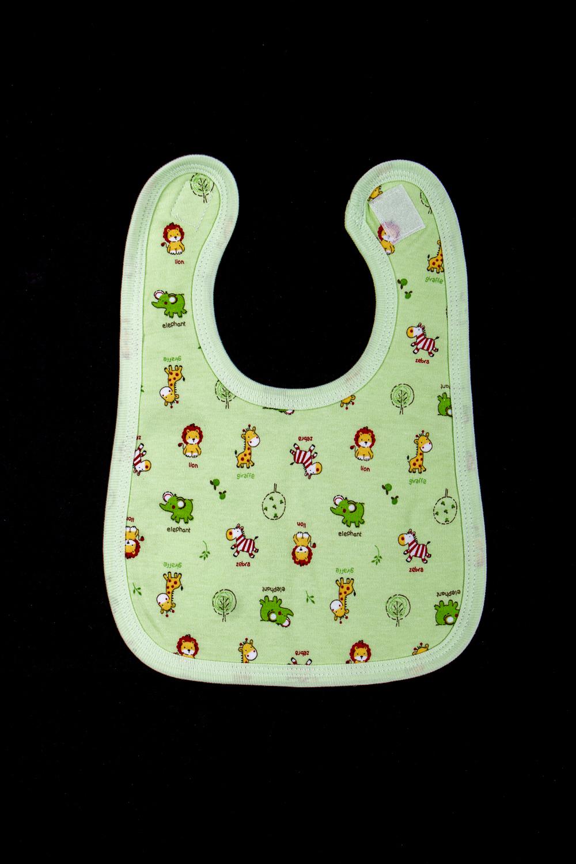НагрудникСлюнявчики<br>Хлопковый нагрудник для ребенка  В изделии использованы цвета: зеленый и др.  Размер 56 соответствует росту ребенка 56-62 см. Размер 68 соответствует росту ребенка 68-74 см.<br><br>Размер : 56<br>Материал: Хлопок<br>Количество в наличии: 1