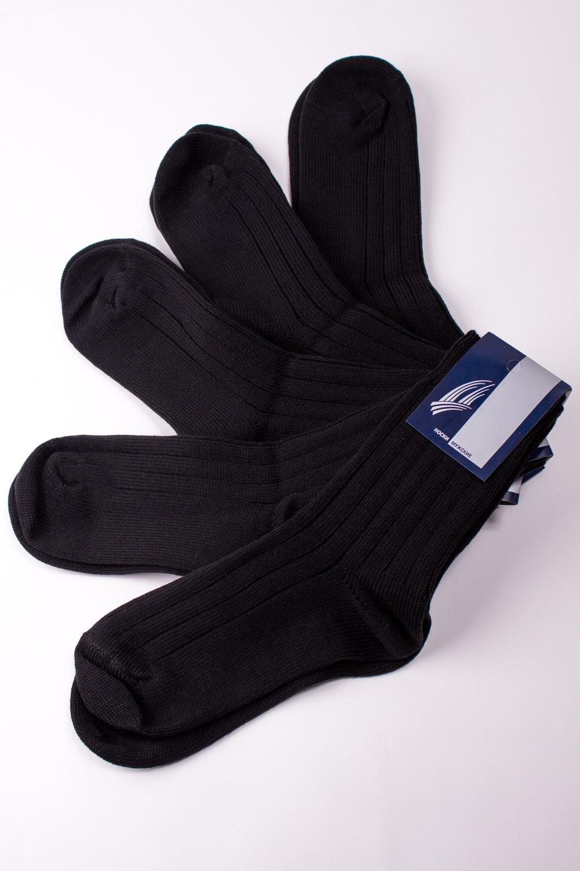 НоскиНоски<br>Теплые мужские носки. В наборе 5 пар.  В изделии использованы цвета: черный  Цена на сайте указана за 1 упаковку.<br><br>По сезону: Осень,Весна<br>Размер : 25,27,29<br>Материал: Вязаное полотно<br>Количество в наличии: 5