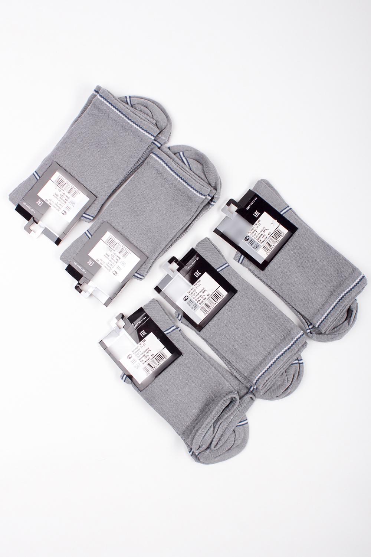 НоскиНоски<br>Трикотажные мужские носки. В наборе 5 пар.  В изделии использованы цвета: серый, белый, синий<br><br>По сезону: Осень,Весна<br>Размер : 27-29<br>Материал: Трикотаж<br>Количество в наличии: 1