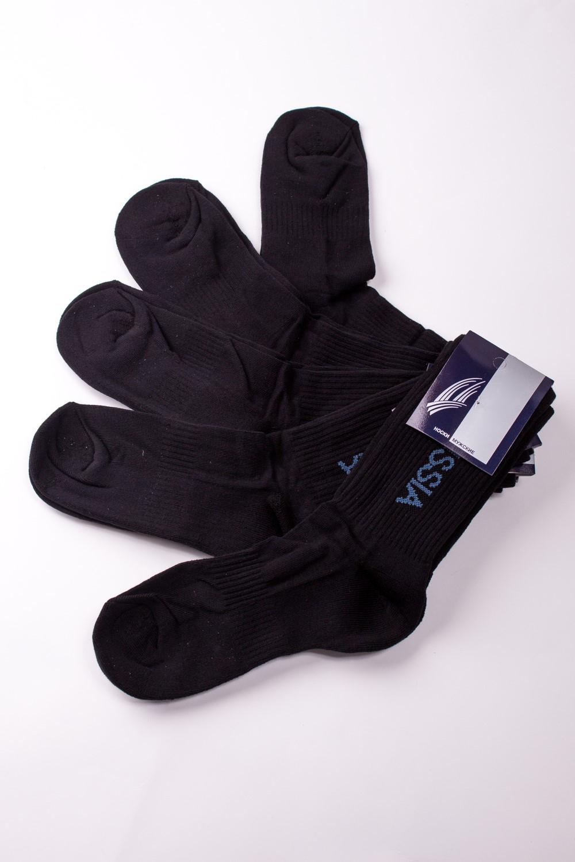 НоскиНоски<br>Трикотажные мужские носки. В наборе 5 пар.  В изделии использованы цвета: черный  Цена на сайте указана за 1 упаковку.<br><br>По сезону: Всесезон<br>Размер : 23-25<br>Материал: Трикотаж<br>Количество в наличии: 2