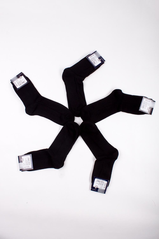 НоскиНоски<br>Трикотажные мужские носки с махровым следом. В наборе 5 пар.  В изделии использованы цвета: черный  Цена на сайте указана за 1 упаковку.<br><br>По сезону: Осень,Весна<br>Размер : 23-25,31-33<br>Материал: Трикотаж<br>Количество в наличии: 2
