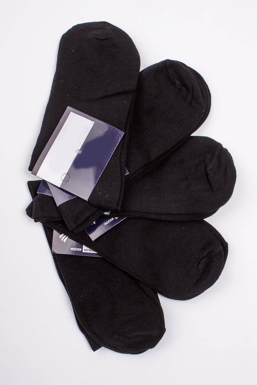 НоскиНоски<br>Хлопковые носки из мягкого трикотажа. В наборе 5 пар.  В изделии использованы цвета: черный  Цена на сайте указана за 1 упаковку.<br><br>По сезону: Всесезон<br>Размер : 31-33<br>Материал: Трикотаж<br>Количество в наличии: 2