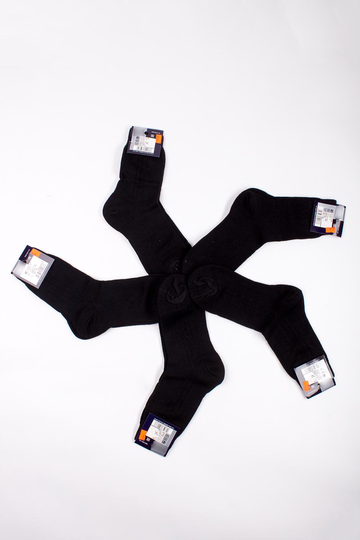 НоскиНоски<br>Трикотажные мужские носки. В наборе 5 пар.  В изделии использованы цвета: черный  Цена на сайте указана за 1 упаковку.<br><br>По сезону: Осень,Весна<br>Размер : 25,29<br>Материал: Трикотаж<br>Количество в наличии: 3